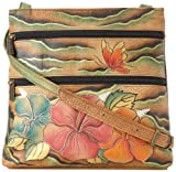 Anuschka 447 WHA Cross Body,Wild Hibiscus,One Size, Bags Central