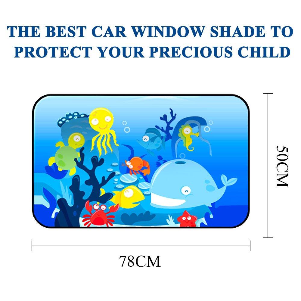 Protege a su Beb/é Ni/ños y Mascotas Proporciona Protecci/ón UV M/áxima Parasol Coche Bebe Parasol Coche Cortinilas Laterales Coche