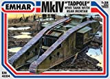 Emhar WWI British Mk.IV Tadpole Tank with Rear Mortar - 1:35 Plastic Model Kit