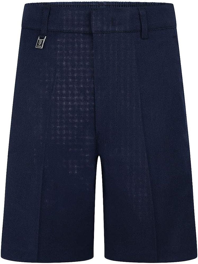 Ozmoint/® School Uniform Boys Standard Fit Shorts Grey,Navy Blue,Black,Brown