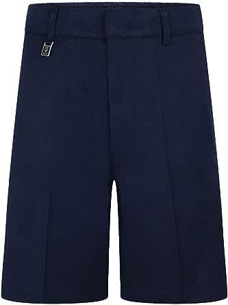 Ozmoint School Uniform Boys Standard Fit Shorts Gris, Azul marino, Negro, Marrón