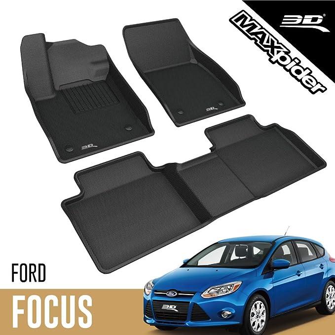 3d Maxpider Allwetter Fussmatten Für Ford Focus 2019 2020 Passgenaue Fußmatten Auto Gummi Matten Gummimatten Auto