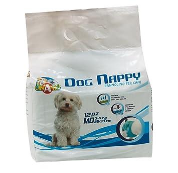 Croci Pañales para perro, tamaño mediano, paquete de 12 unidades