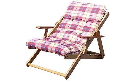 Sedia A Sdraio In Legno : Poltrona sedia sdraio alessia in legno di pino naturale con seduta