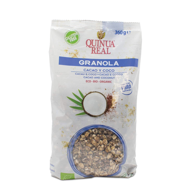 Granola de quinoa real con cacao y coco sin gluten BIO - Quinua ...