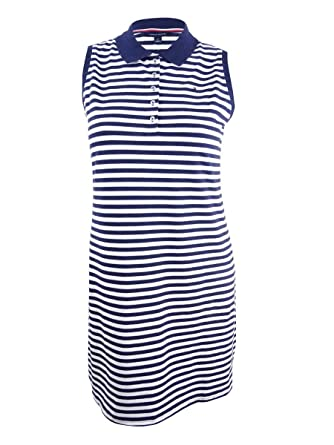 779fde9d Tommy Hilfiger Women's Striped Polo Dress at Amazon Women's Clothing store: