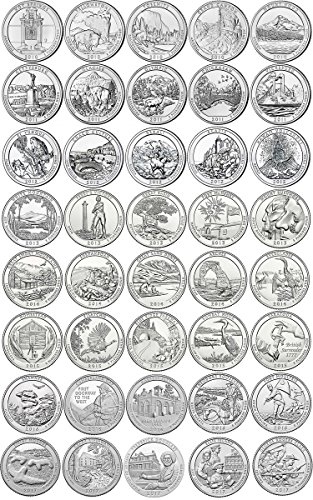 2010 P – 2018 P BU National Parks Quarters – 45 coin Set Uncirculated