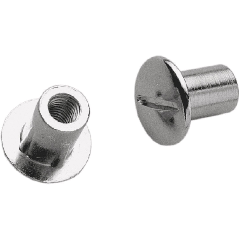 H/ülsen /ø 8mm; Holzst/ärke 30-40 mm Kreuzschlitz Stahl vernickelt; Inhalt: 10 St/ück SECOTEC Verbindungsschraube M6