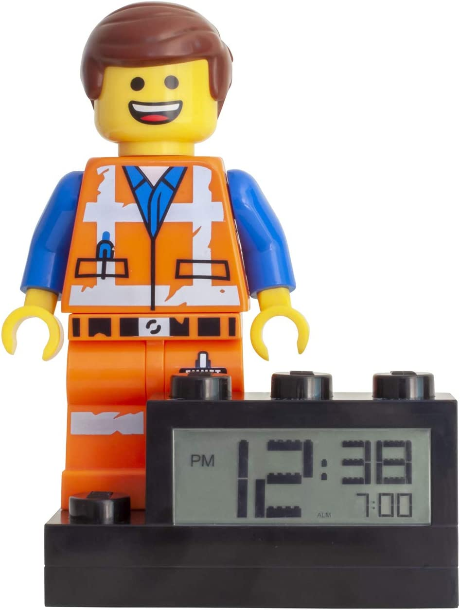 LEGO Movie 2 9003967 Emmet Kids Minifigure Light Up Alarm Clock