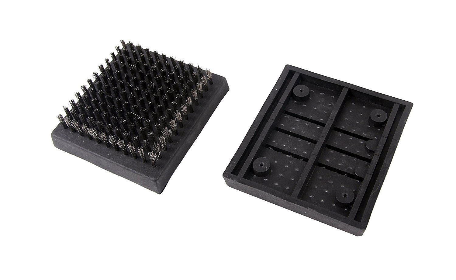 Man Law BBQ Products Man-RBH1 Cleaning Series Replacement Grill Brush Heads (2), One Size Black