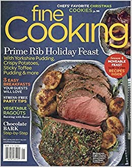 Fine Cooking Magazine December 2016 Fine Cooking Amazon Com Books