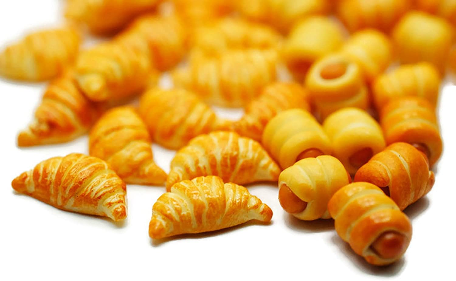 20 Psc Sausage Bread Rolls and Croissant Dollhouse Miniatures Food Kitchen by Cool Price