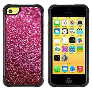 "Pulsar iFace Series Tpu silicona Carcasa Funda Case para Apple iPhone 5C , Glitter rosa púrpura de Bling Sand reflectante"""