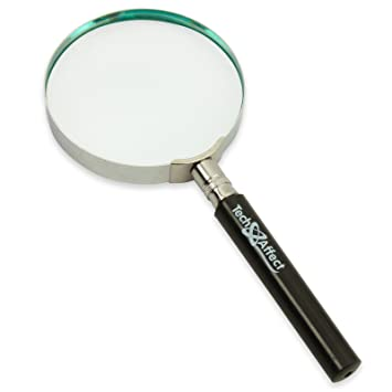 magnifying glass hand held classic magnifier large amazon co uk