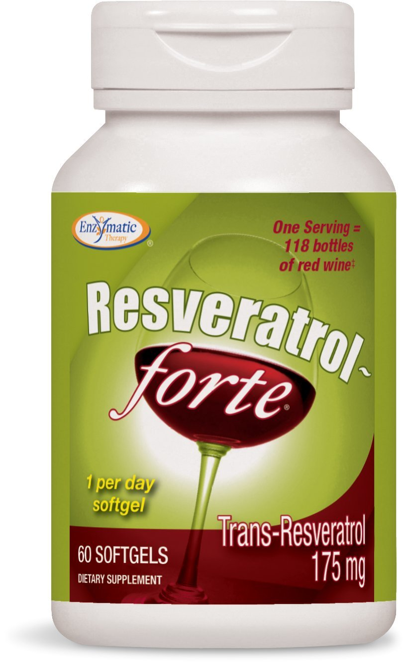 Enzymatic Therapy Resveratrol-Forte Supplement, 60 Count