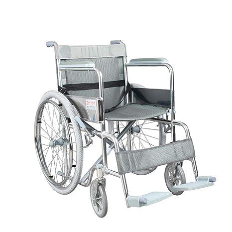 Silla de ruedas Feifei Sillón de Ruedas Plegable de Aluminio ...