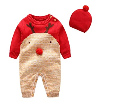 ce88e3d2c8b3 Amazon.com  Treetop Clothing LLC Baby Kids Christmas Reindeer ...