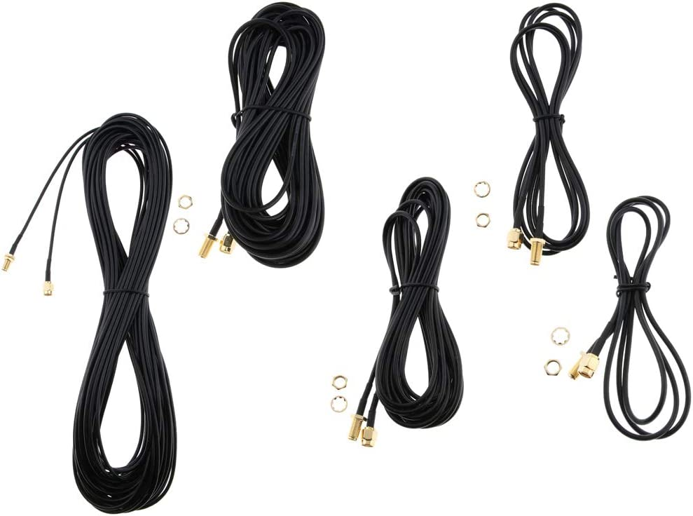 RG174 Schwarz 1M F Fityle RP SMA Stecker auf RP SMA Buchse Antenne Verl/ängerungskabel Kabel Typ