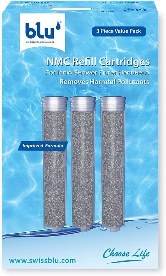 blu Ionic Power Filter - Juego de 3 cartuchos de repuesto - Filtro de nanopartículas moleculares, de metales pesados y de cloro: Amazon.es: Hogar