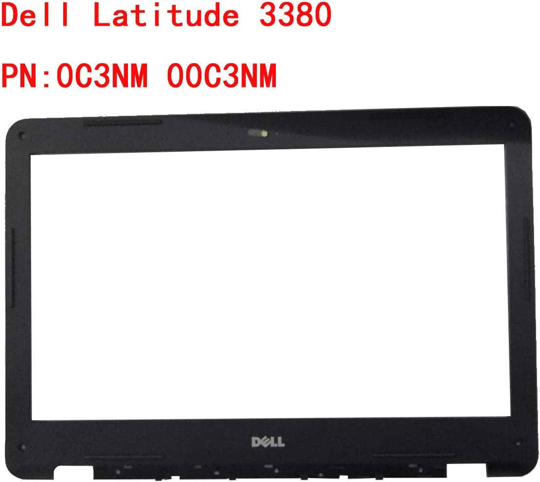 New Compatible Replacement for Dell Inspiron 3380 LCD Front Bezel w//Webcam Port Black 0C3NM 00C3NM