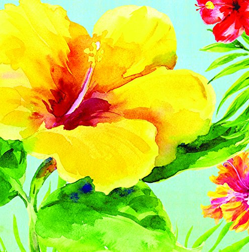 Creative Converting 36 Count Lunch Napkins, Heavenly Hibiscus