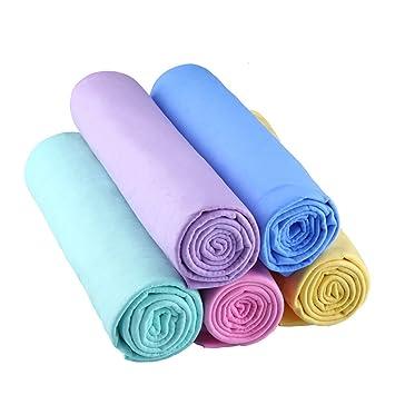 jiele Super absorbente paño de gamuza sintética Toalla multiusos resistente gamuza de microfibra mascota toalla de secado toallas toallas de lavado de ...