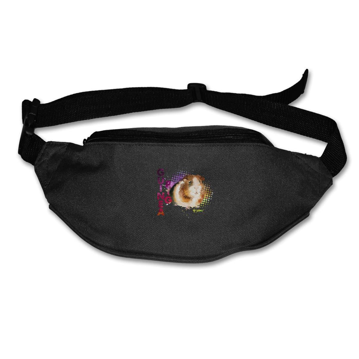Guinea Pig Watercolor Sport Waist Packs Fanny Pack Adjustable For Run