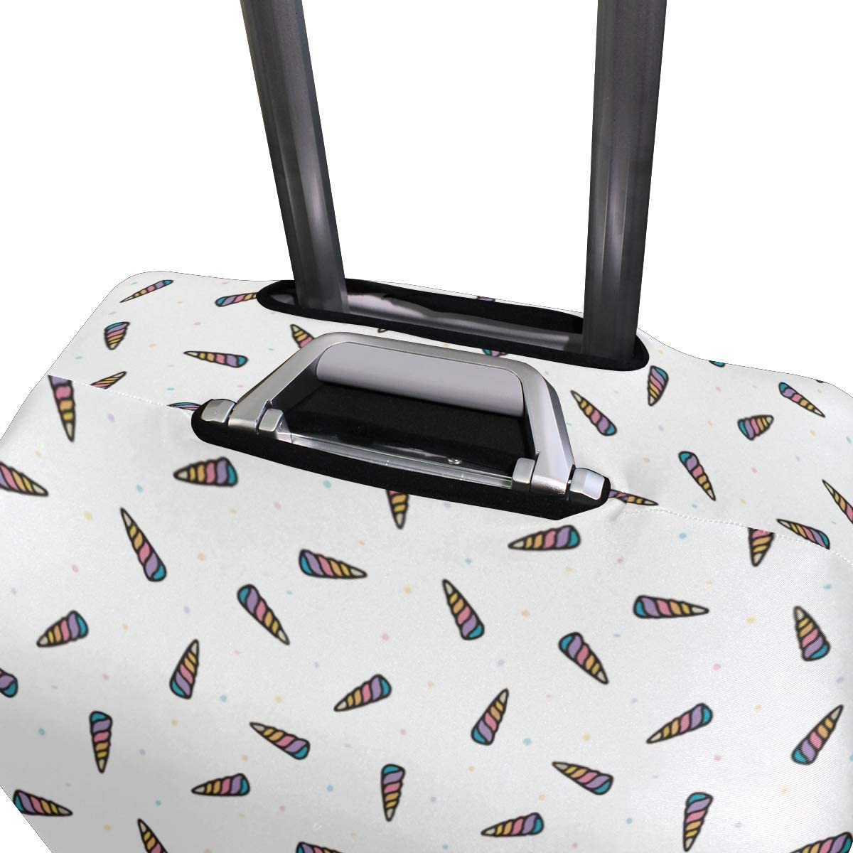 Only The Invisible Unicorn Of Head Travel Suitcase Protector Zipper Suitcase Cover Elastic