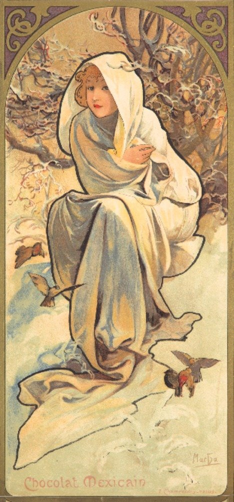 Chocolatマッソン – ショコラMexicainヴィンテージポスター(アーティスト: Mucha )フランスC。1896 9 x 12 Art Print LANT-73091-9x12 9 x 12 Art Print  B01MPW537L