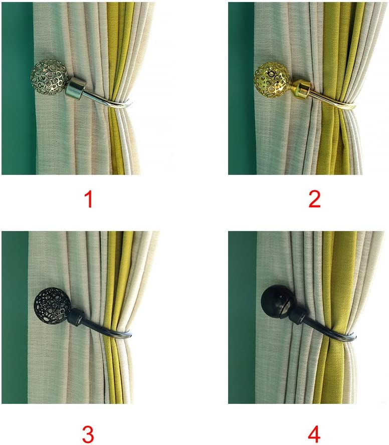 rideau dor/é Crochets muraux creux en forme de U de style r/étro avec boules en m/étal pour manteau accessoires de d/écoration chapeau