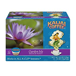 Kauai Coffee Single-serve Pods, Garden Isle Medium Roast – 100% Premium Arabica Coffee from Hawaii's Largest Coffee Grower, Compatible with Keurig K-Cup Brewers - 12 Count (Pack of 4)