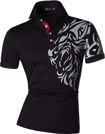 Camisa De Polo para Hombre Solapa Casual Manga Corta Polo ...