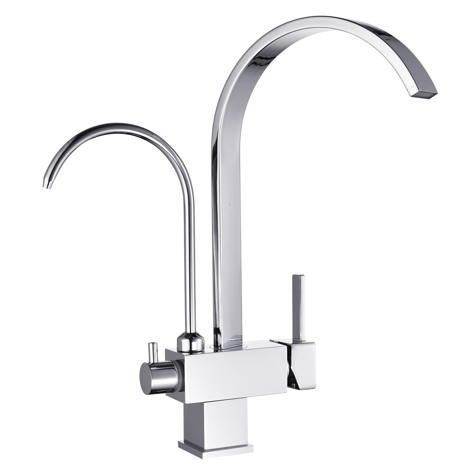 Filter Tap 3 Way Tri-Flow Water Kitchen Sink Mixer Tap Chrome Peppermint Hapilife