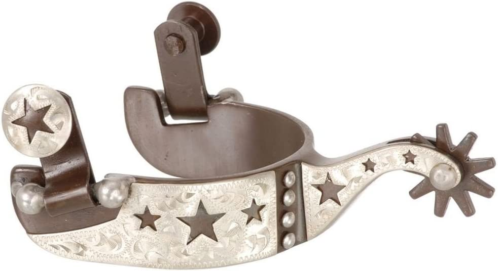 Kelly Silver Star Bull Rider Blue Steeled Rodeo Spurs