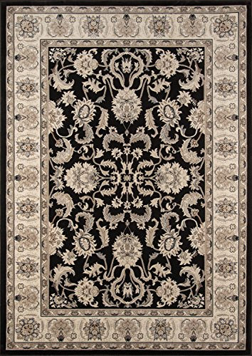 Cheap Momeni Rugs ROYALRY-04CHRB3F0 Royal Collection Power Loomed Traditional Area Rug, 11'3″ x 15′, Charcoal