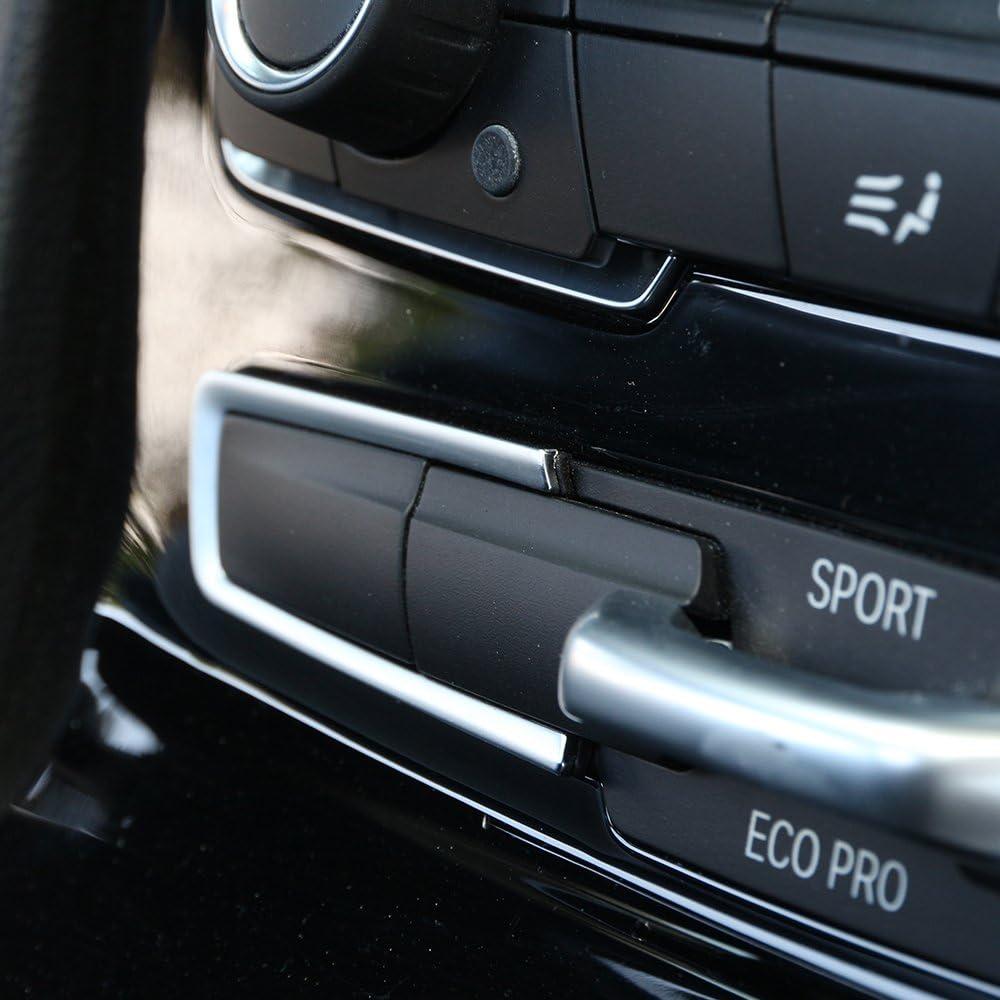 DIYUCAR f/ür 2er-Serie F45 F46 218i 2015 2017 Autozubeh/ör ABS Chrom Mode Knopf Rahmen Blende 2 St/ück