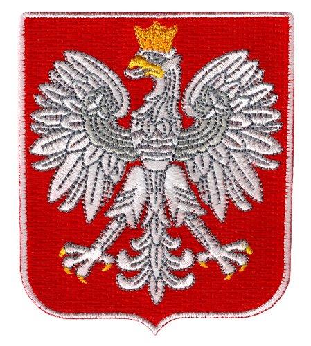 Poland Coat of Arms Patch Polska Shield Embroidered Iron-On Polish (Coat Poland)