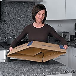 Bankers Box SmoothMove Prime Moving Boxes, Tape-Free and Fast-Fold Assembly, Medium, 18 x 18 x 16 Inches, 8 Pack (0062801)