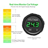 MICTUNING DC 12V LED Digital Display Voltmeter