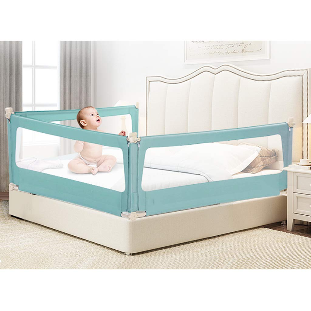 SONGTING Guardrail Baby Shatter-Resistant Fence Large Bed Meters Children Against Bedside Baffle Bed Single Foldable Safety Bedrail with Ventilated Bed Rail Bed Rail for Baby Portable Folding by SONGTING Guardrail (Image #2)