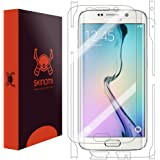 Skinomi® TechSkin - Samsung Galaxy S6 Edge Screen Protector + Full Body Skin Protector [Full Screen Coverage] / Front & Back Premium HD Clear Film / Ultra High Definition Invisible and Anti-Bubble Crystal Shield - Retail Packaging