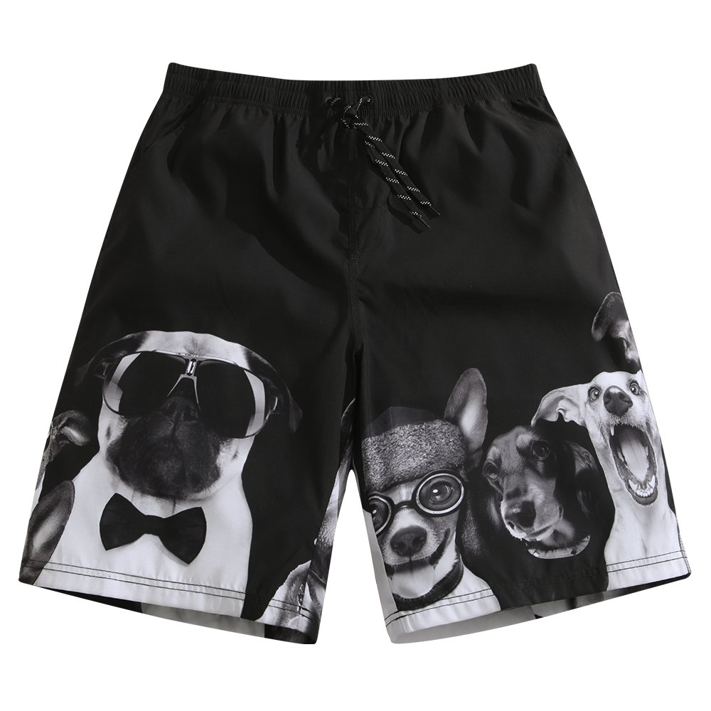Mens Ultra Quick Dry Puppy Lover Fashion Board