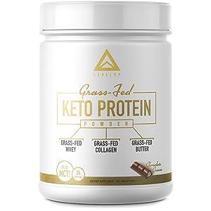 LevelUp Grass-fed Keto Protein Powder