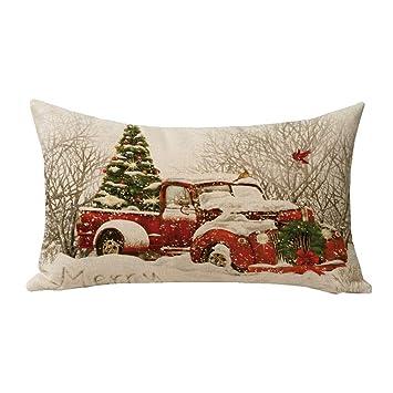 Amazon.com: Alicia Haines Rojo Camión Árbol de Navidad ...