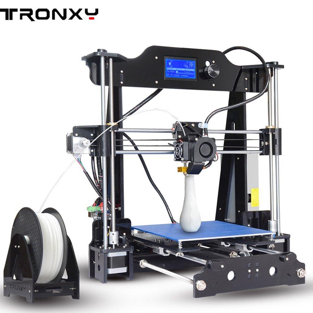TRONXY X8 Nouveau I3S 3D Imprimante DIY Haute Pré cision DIY Acrylique Structure 3D Imprimante Grand Impression Taille 220x220x200mm Grands Cadeaux Luckywing
