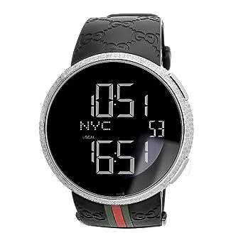 mens i gucci ya114207 watch digital rubber strap 4ct diamonds round rh amazon co uk Smael Watch User Manual Casio Watch Instruction Manual