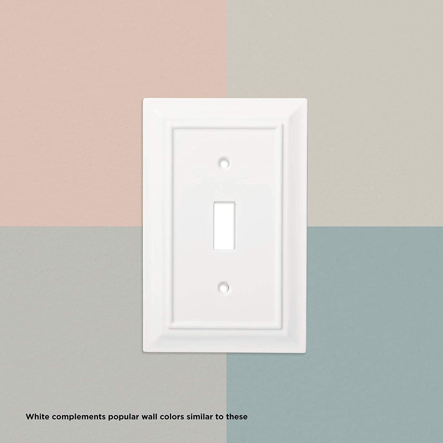 Franklin Brass W35243-PW-C Classic Architecture Single Decorator Wall Plate/Switch Plate/Cover, White - -
