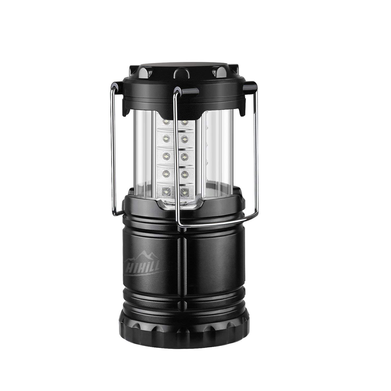 HiHiLL USB aufladbare Campinglaterne-Taschenlampe, tragbare ultra helle LED-Lampe, wasserfestes Licht mit Haken, Hurrikan, Outdoor, Wandern, Angeln
