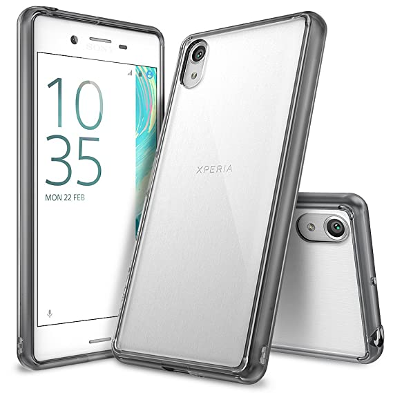 sneakers for cheap d3d7a e47e8 Ringke [Fusion] Compatible with Sony Xperia X Case Crystal Clear PC Back  TPU Bumper [Drop Protection/Shock Absorption Technology] Raised Bezels ...
