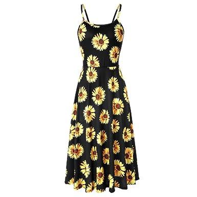 f760dea2908d2 2019 New Women's Sunflower Dress, E-Scenery Summer Sleeveless ...